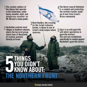 IDF Infographic - Northern Front
