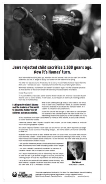 Wiesel Newspaper Ad
