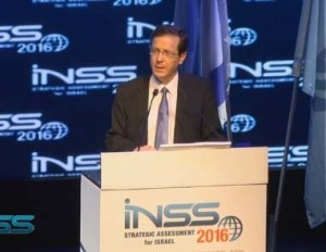 Isaac Herzog - January 19, 2016. Credit: The Institute for National Security Studies